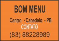 BOM MENU  - CABEDELO - PB