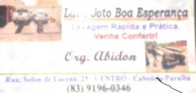 LAVA   JATO BOA ESPERANÇA - CABEDELO - PB