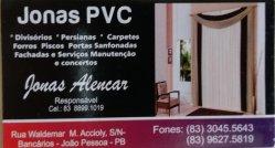 JONAS PVC - BANCARIOS - JOAO PESSOA - PB